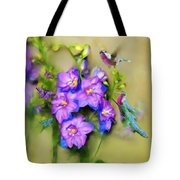 Hummingbirds Butterflies And Flowers Tote Bag