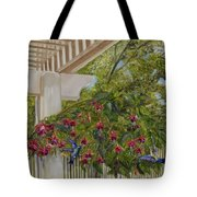 Hummingbirds In Spring Tote Bag