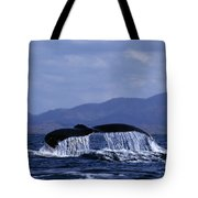 Hump Backed Whale Tail With Cascading Water Tote Bag