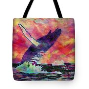 Humpback Whale Digital Color Tote Bag