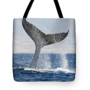 Humpback Whale Fluking Its Tail Tote Bag