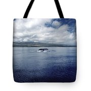 Humpback Whale Tail Slap Hawaii Tote Bag