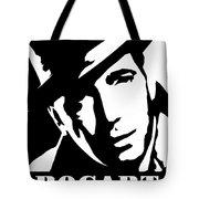 Humphrey Bogart Black And White Pop Art Tote Bag