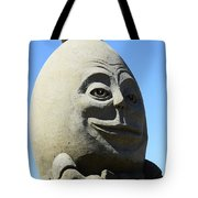 Humpty Dumpty Sand Sculpture Tote Bag by Bob Christopher