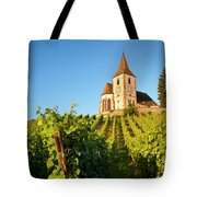 Hunawihr Church Tote Bag by Brian Jannsen