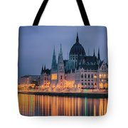 Hungarian Parliament Dawn Tote Bag