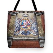 Hungary Coat Of Arms In Budapest Tote Bag