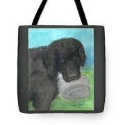 Hungry Newfoundland Dog Canine Animal Pets Art Tote Bag