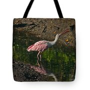 Hungry Pink Spoonbill Tote Bag