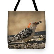 Hungry Red-bellied Woodpecker - Melanerpes Carolinus Tote Bag
