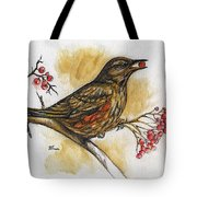 Hungry Thrush Tote Bag