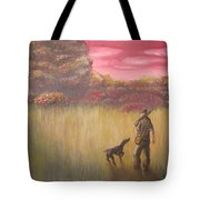 Hunter And Pointer Tote Bag