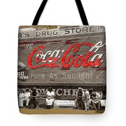 Hunter's Drug Store Coca-cola Mural Greensboro Georgia Marion Post Wolcott Fsa Spring 1939-2014  Tote Bag