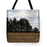 Hunter's Raised Blind In A Spring Field Tote Bag
