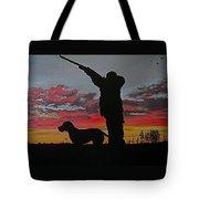 Hunting At Sunset Tote Bag