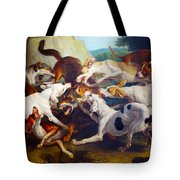 Hunting Dogs Detail Tote Bag