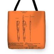 Hunting Knife Patent Tote Bag