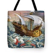 Hunting Sea Creatures Tote Bag by Jan Collaert
