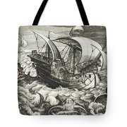 Hunting Sea Creatures Tote Bag
