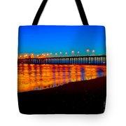 Huntington Beach Pier - Nightside Tote Bag