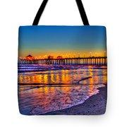 Huntington Beach Pier Sundown Tote Bag