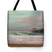 Huntington Beach Morning Tote Bag