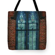 Stained Glass Arch Window Tote Bag