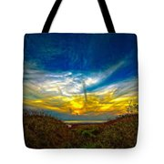 Huron Evening 2 Oil Tote Bag