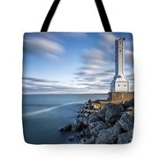Huron Harbor Lighthouse Tote Bag