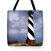 Hurricane Coming At Cape Hatteras Lighthouse Tote Bag