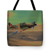 Hurricane Fighter Plane 2 Tote Bag