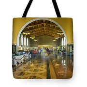 Hussel And Bussel At The Union Train Station Los Angeles Ca Tote Bag