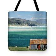 Hut On West Coast Of Isle Tote Bag by Rob Penn