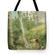 Hut In The Jungle Circa 1816 Tote Bag by Aged Pixel