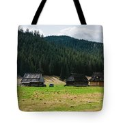 Huts In The Hills Tote Bag
