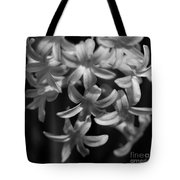 Hyacinth In Black And White Tote Bag