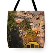 Hyde Street Cable Car Tote Bag