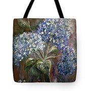Hydrangea Bouquet At Dawn Tote Bag