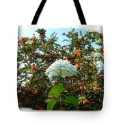 Hydrangea With Mountain Ash Tote Bag