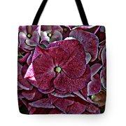 Hydrangeas In Rich Rose Color Tote Bag