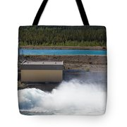 Hydro Power Station Dam Open Gate Spillway Water Tote Bag