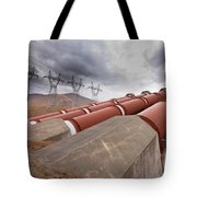 Hydroelectric Plant In Renewable Energy Concept Tote Bag