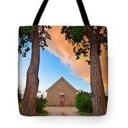 Hygiene Colorado Church Of The Brethren 1880 Sunset Tote Bag
