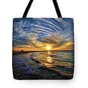 Hypnotic Sunset At Israel Tote Bag by Ron Shoshani