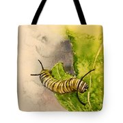 I Am Very Hungry - Monarch Caterpillar Tote Bag