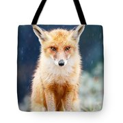 I Can't Stand The Rain  Fox In A Rain Shower Tote Bag