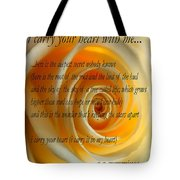 I Carry Your Heart With Me... Tote Bag