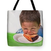 I Don't Want To - Pie Eating Contest Art Prints Tote Bag