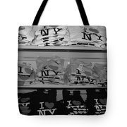 I Heart Ny In Black And White Tote Bag