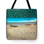 I Heart You Shores Of Lake Michigan Tote Bag